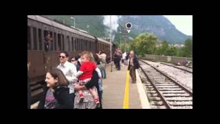 preview picture of video 'La 740.293 a Longarone per il Treno nelle Dolomiti'