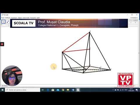 Calculul unor distanțe și măsuri de unghiuri în spațiu