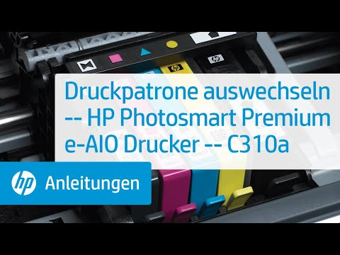 Druckpatrone auswechseln – HP Photosmart Premium e-All-in-One Drucker – C310a