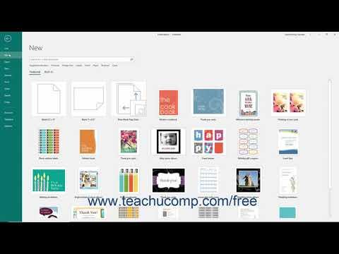 Publisher 2019 & 365 Tutorial Creating New Publications Microsoft Training