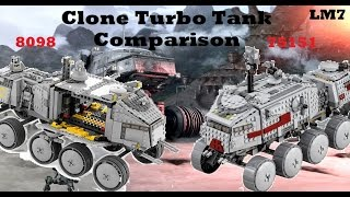 Lego Star Wars Comparisons - LEGO Star Wars Clone Turbo Tank Comparison [8098 & 75151]