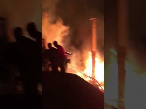 Çayeli'nde feci yangın