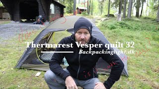Thermarest Vesper quilt 32 review