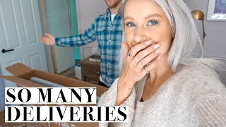 UNBOXING NEW CLOTHES, MAKEUP AND HOME DELIVERIES & THE NEW CAR | INTHEFROW
