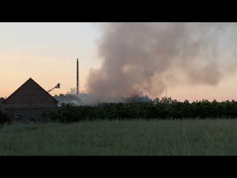 Wideo1: Pożar na terenie odlewni żeliwa w Dobramyśli