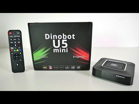 DINOBOT U5 Mini 4K Hybrid Android TV OS BOX - Multi-TV Tuner - ATV - Enigma 2