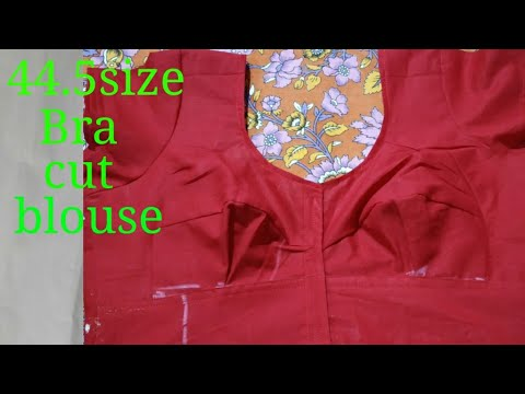 44.5 size bra cut blouse stitching step by step easily method