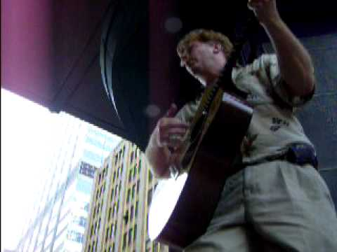 """Footprints"" Christian Contemporary Guitar, sung on Nicollet Mall during Rush Hour"