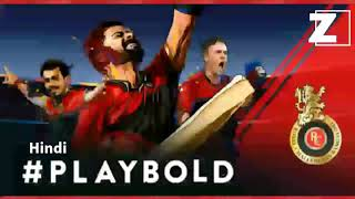 RCB PlayBold Anthem Hindi  - zevegamusic
