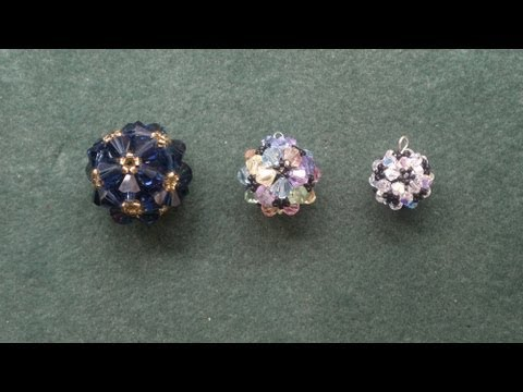 "(Beads) ""Beaded ball"" workshop pendant for advanced beaders beading tutorial"