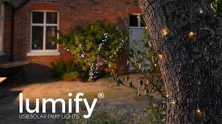 Lumify USB Solar Fairy Lights