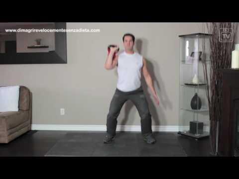 Eliminare le parti piegate e uno stomaco. esercizi