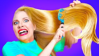 HOW I LOST IN THE BEAUTY CONTEST || FUNNY LONG, SHORT AND CURLY HAIR PROBLEMS By La La Life