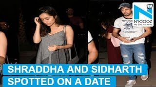 Shraddha Kapoor and Sidharth Malhotra spotted at a restaurant