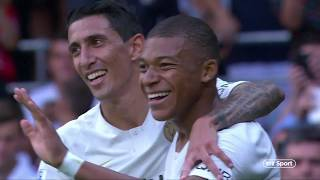 Kylian Mbappé back with a bang! Two goals on his PSG return | Guingamp 1-3 PSG - Video Youtube