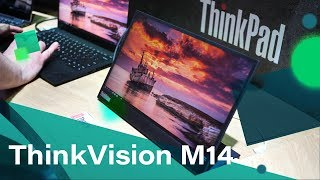 Lenovo ThinkVision M14 Portable USB-C Monitor Hands-on from MWC 2019