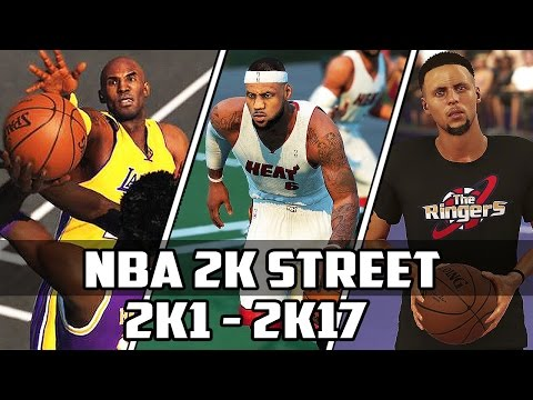 History of NBA 2K Street Blacktop - (2K1-2K17)