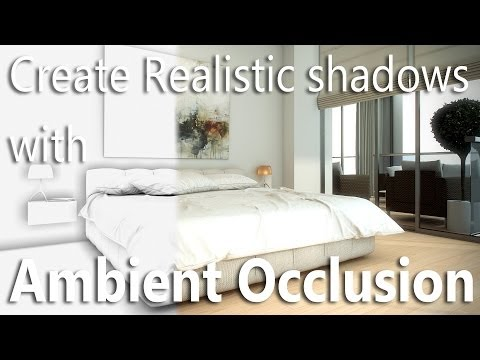Vray tutorial - how to add Ambient Occlusion in Vray for Realistic Shadows!