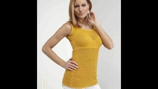 Вязаный Летний ТОП Спицами 2017 / Knitted Summer Top Spokes / Gestrickte Sommer Top Speichen