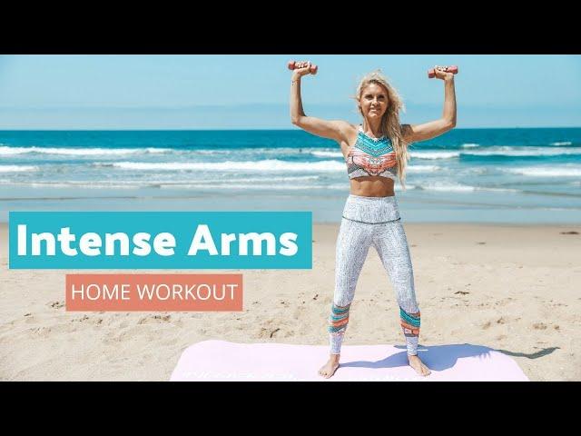 Intense Arm Workout – LOSE UPPER BODY FAT | Rebecca Louise