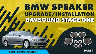 BAVSOUND - BMW 5 Series Speaker Upgrade 1/4 -BSW Stage One -E39