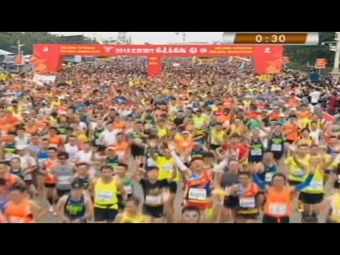 Marathon: Les éthiopiens dominent Pékin