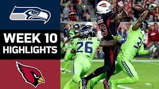 Seahawks vs. Cardinals | NFL Week 10 Game Highlights