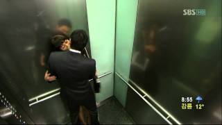 태양의 신부 송유하-연미주-엘리베이터 속 키스