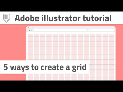 How to create a grid in Adobe Illustrator   Web and graphic design tutorial