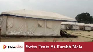 Swiss tents at Kumbh Mela ground, Allahabad