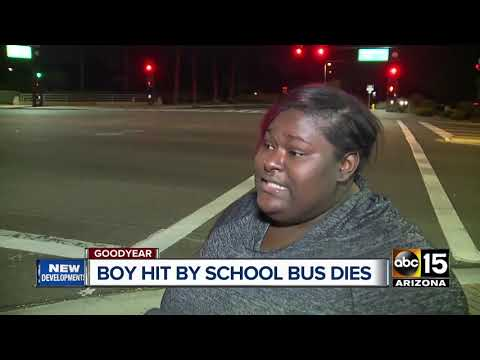 12-year-old boy dies after being struck by a school bus in Goodyear
