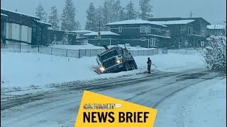 Heavy snow blankets Kelowna