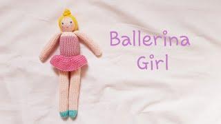 How To Knit Doll-Ballerina Girl Part1   대바늘인형,손뜨개 인형