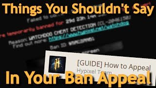 how to make a ban appeal on hypixel - मुफ्त