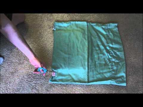 Make A DIY Laptop Sleeve Out Of A Pillowcase
