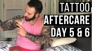 How To Treat A New Tattoo: Healing Process/Aftercare DAY 5 & 6 ( Dealing With Pimples And Rash )