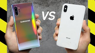 Samsung Galaxy Note 10+ vs Apple iPhone XS Max Drop Test!