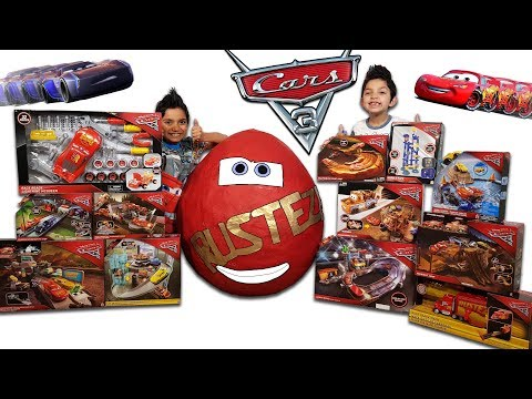 Disney Cars 3 Toys Worlds Biggest Surprise Egg Toy Collection Lightning Mcqueen