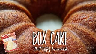 how to make vanilla box cake chocolate