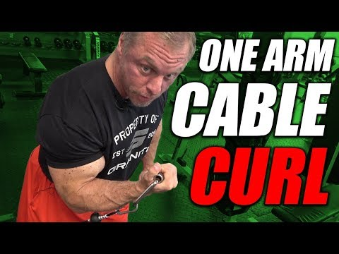Cable One Arm Curl