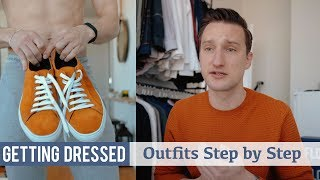 How I Styled These Orange Sneakers | Mens Spring Fashion | Getting Dressed #25