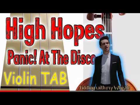 High Hopes - Panic! At The Disco - Violin - Play Along Tab Tutorial