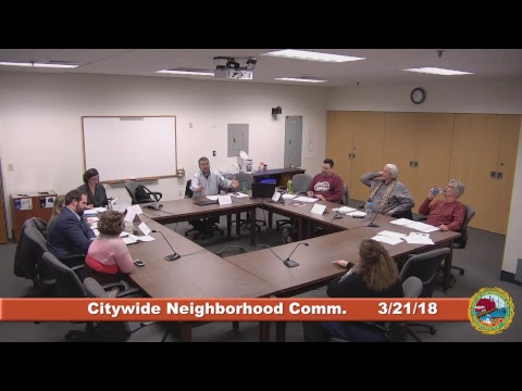 Citywide Neighborhood Committee 3.21.18