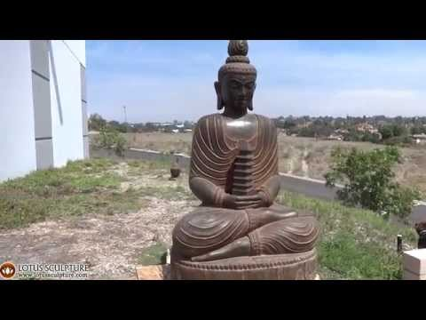 Large Stone Pagoda Buddha Sculpture 61