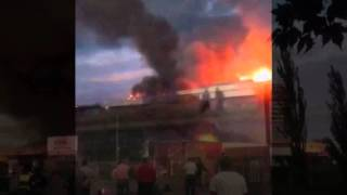 JUMBO CASH AND CARRY WAREHOUSE ON FIRE