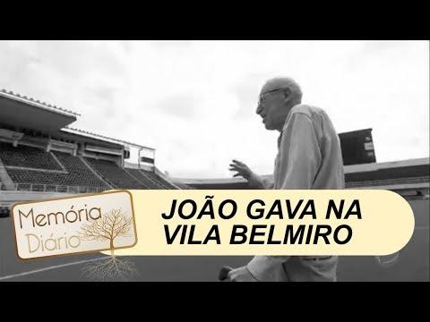 João Gava pisa no gramado da Vila Belmiro