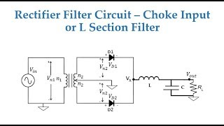 Rectifier Filter - Choke Input or L Section Filter