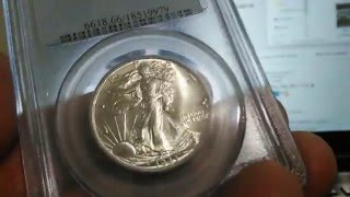 1943 Walking Liberty half dollar PCGS ms66