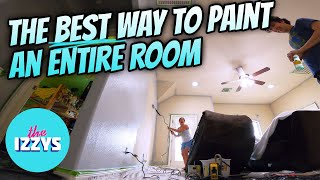 Painting an ENTIRE ROOM Like A Boss!!
