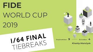 FIDE World Cup 2019. Round 1. Tiebreaks